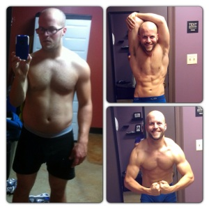 From Jan. 4th to Mar. 23rd, through Ethan's tedious meal plan, I lost 21lbs and went from 19% Body fat to 9%